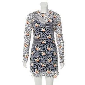 SELF PORTRAIT embroidered mini dress